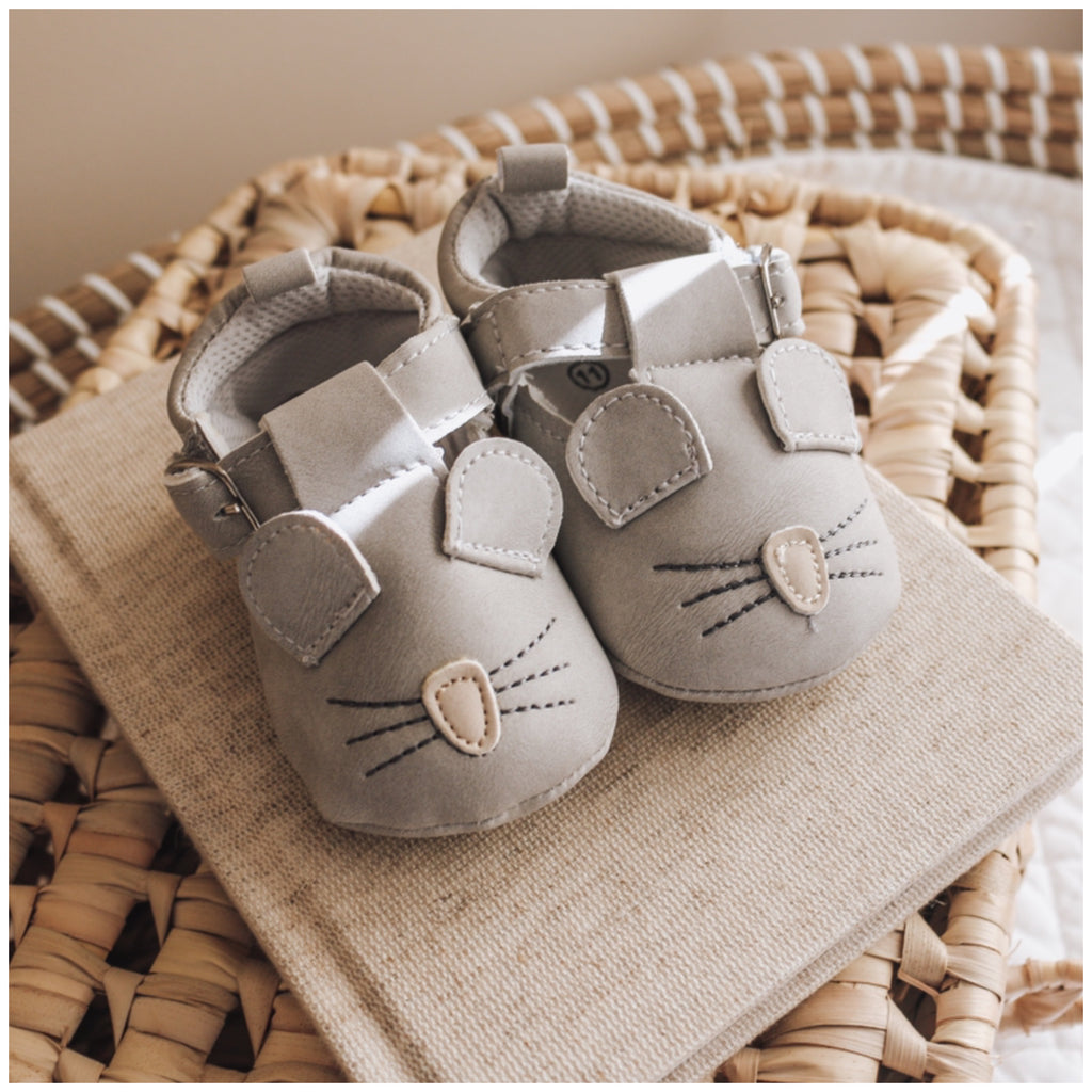 Farmyard Moccasins - Mouse (Light Grey)