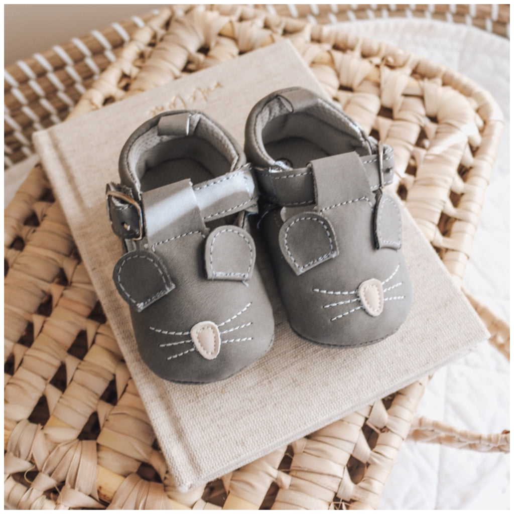 Farmyard Moccasins - Mouse (Charcoal)