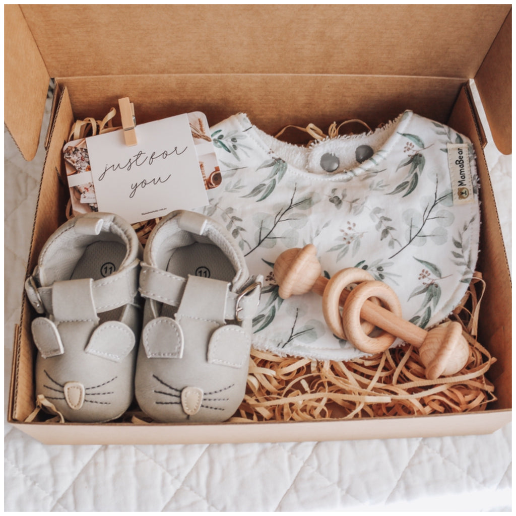 Farmyard Moccasin Gift Set - Mouse