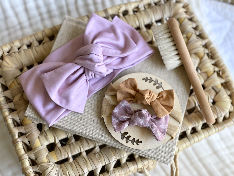 Hairbow & Brush Set |  Pale Pink