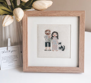 Personalised hand-stitched Family Portrait - Mama Bear