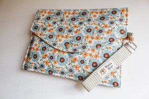 Nappy Wallet (with Zip Pocket) - Sunflower Blue (Sml)