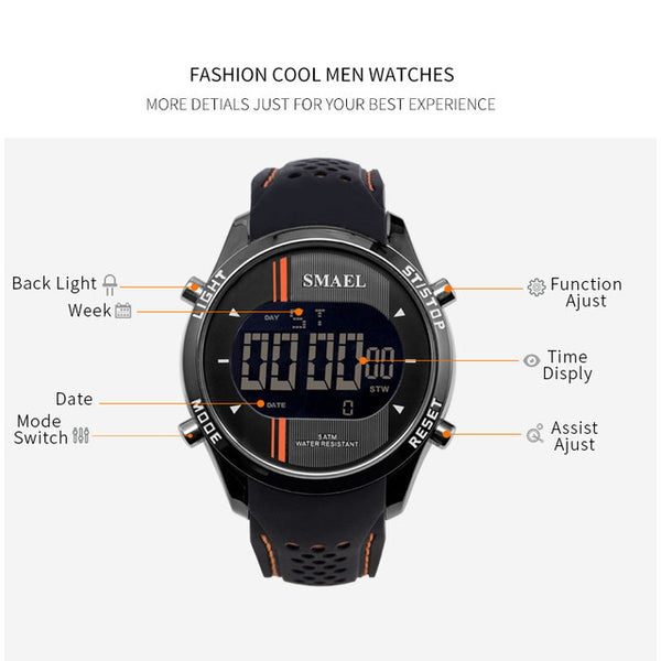 Digital Wristwatches Silicone Watch Men