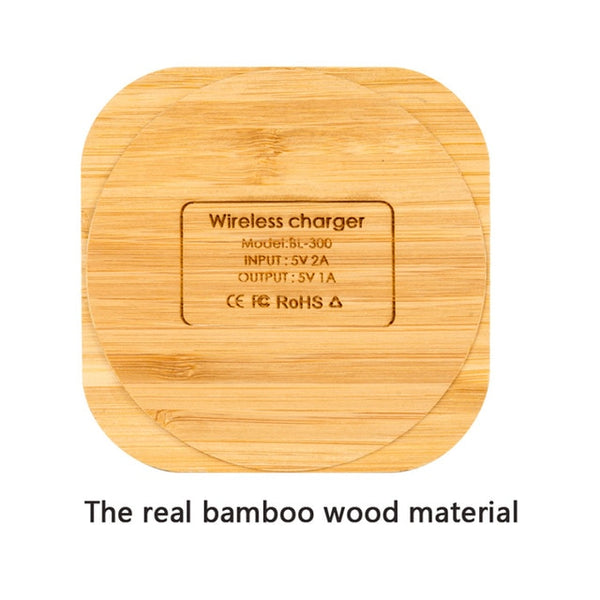 Portable Wireless Charger thin Wood Pad