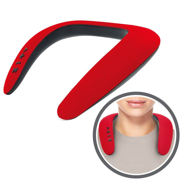 Portable bluetooth Neckband Dual Speaker