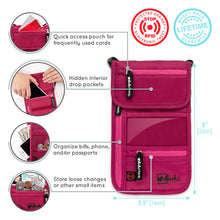 Load image into Gallery viewer, Travel Neck Wallet - Pink