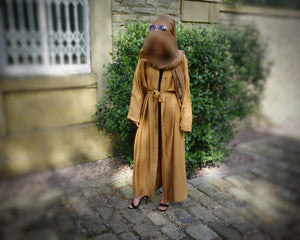 Ardh Brown Abaya by Muddatthir Thobes