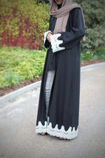 Crya White Abaya worn at a park