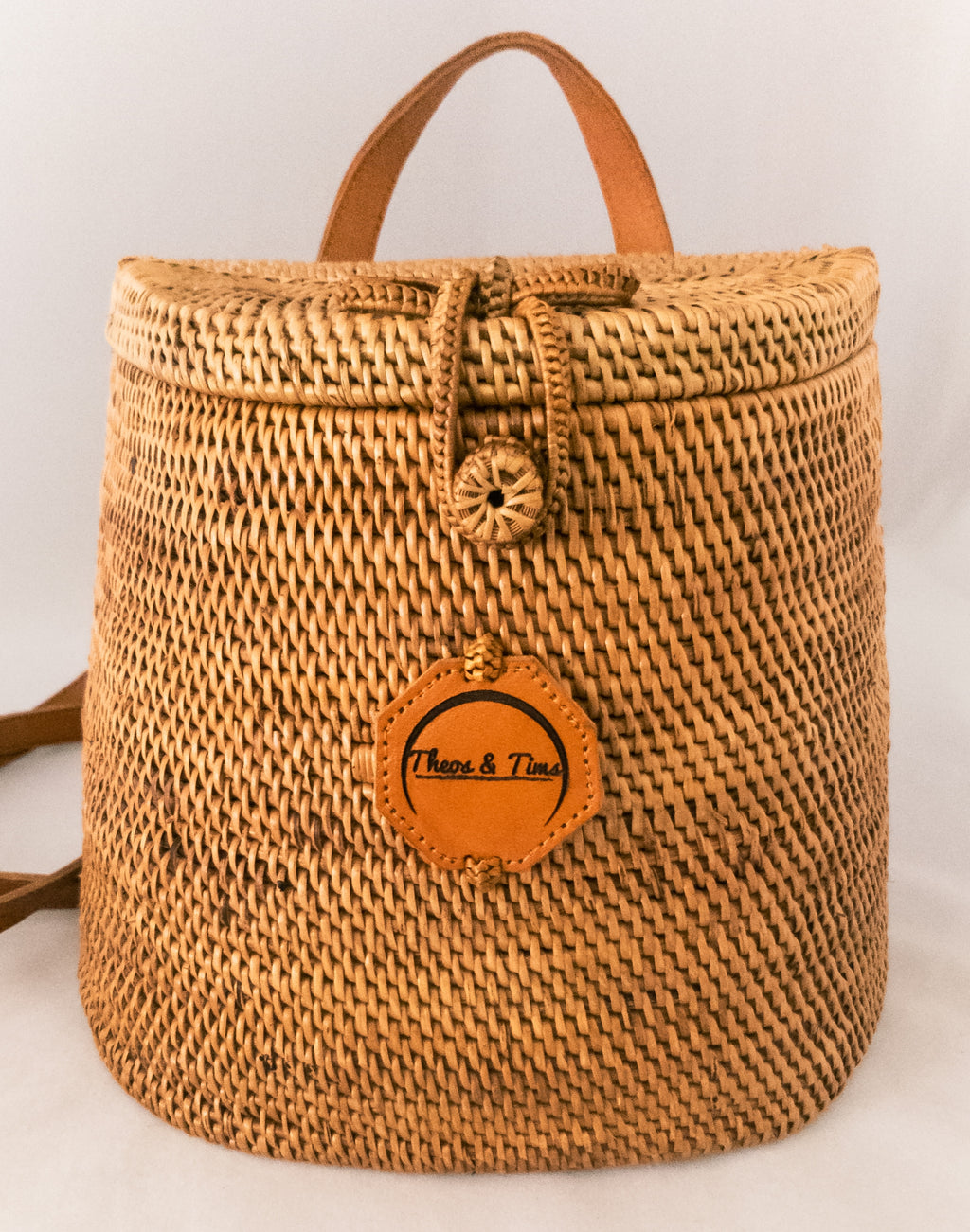 Treasure - Print+Rattan Backpack