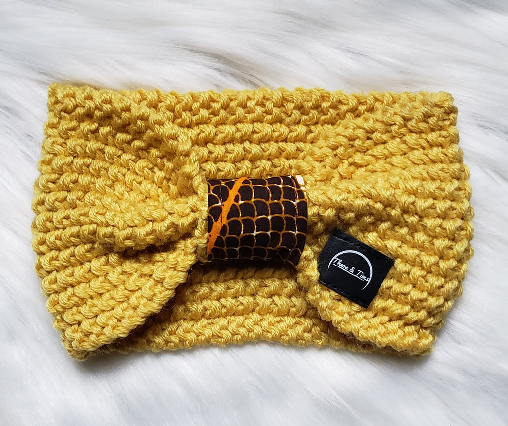 Yellow Bow Headband