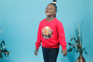 Kids Red Unisex Sweatshirt - World 🌎 In Prints