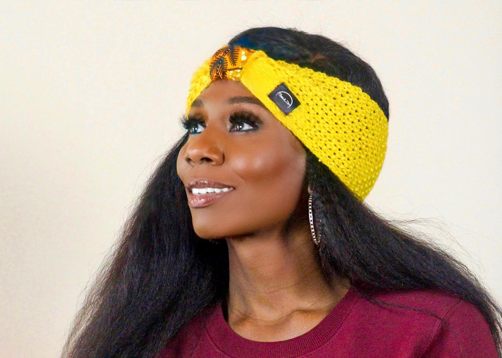 Yellow Ankara Bow Headband