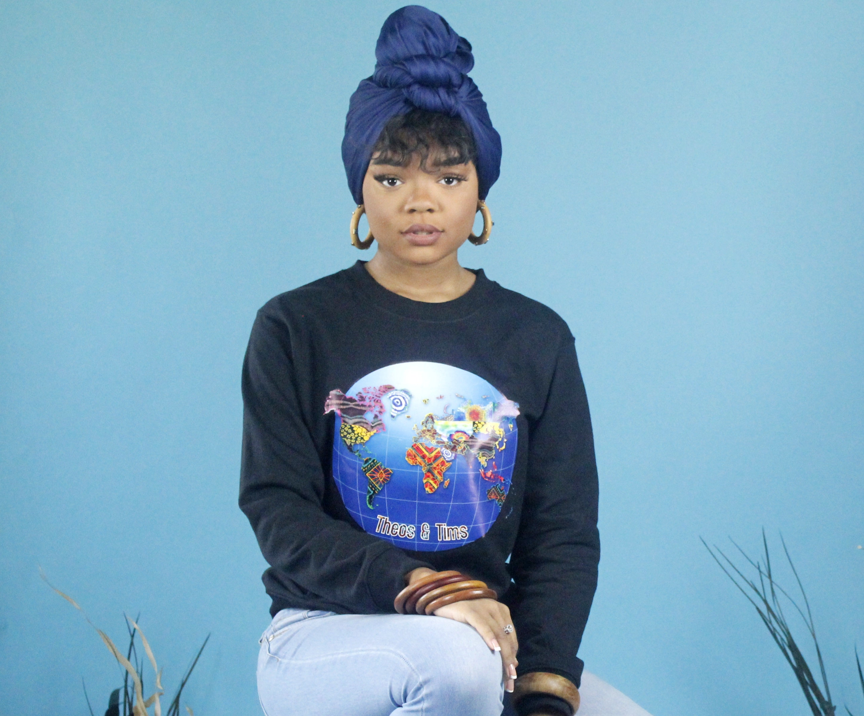 Black Unisex Sweatshirt - World 🌎 In Prints