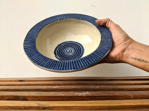 Dark Blue Pasta Bowl