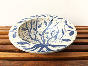 Carved Autumn Pasta Bowl 4