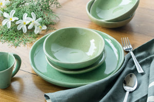 Green Dinner set of 6 - Made to Order