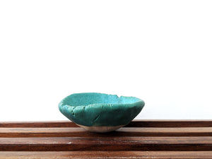 Small Turquoise Pinch Bowl