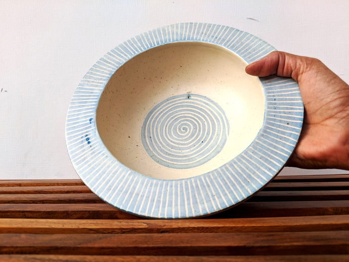 Light Blue Pasta Bowl