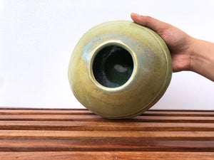Carved Green Matka bowl