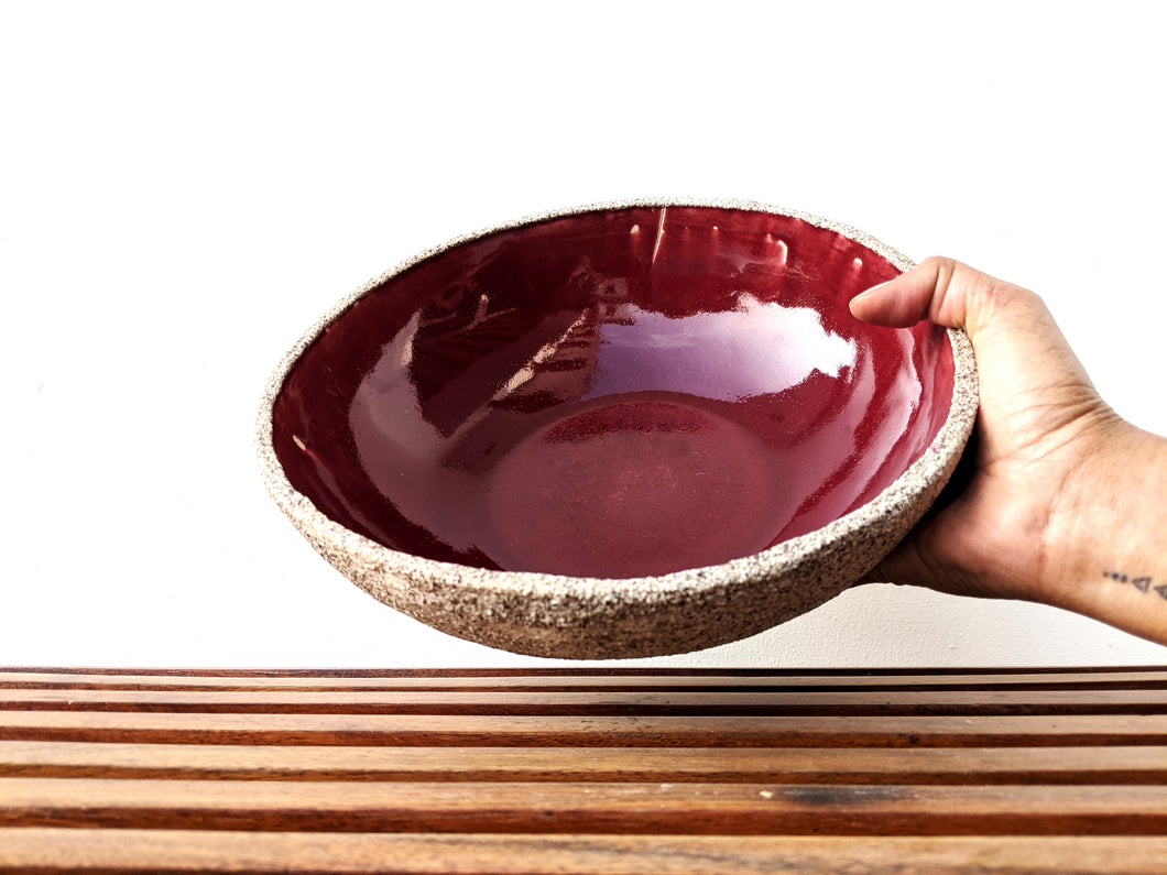 Cherry Red Salad Bowl
