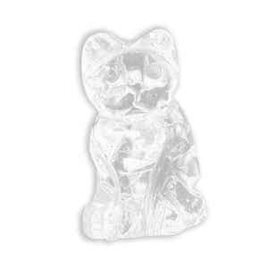 Cute Kitten Natural Fluorspar Crystal Jade Lucky Fortune Cat Home Decoration Pure Hand-Carved Craft Treatment Stones