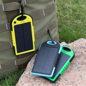 Power bank Solar 5000mAh Power Bank Portable Charger Travel Battery Powerbank for Xiaomi Iphone X8 plus For HTC For HUAWEI