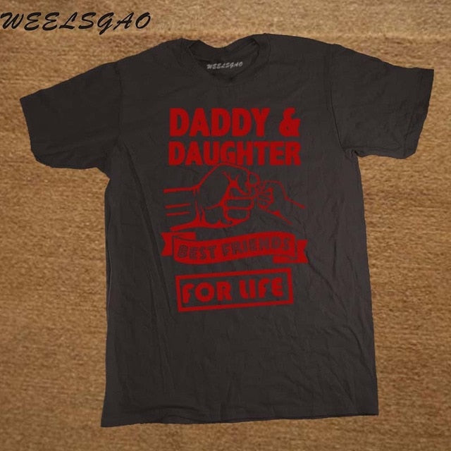 eed2a12456 ... Daddy And Daughter Best Friends For Life Fathers Day Dad Gift Funny  Logo Printed T Shirt. Next slide