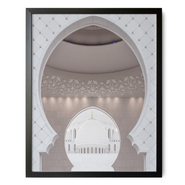White Mosque Archway Print