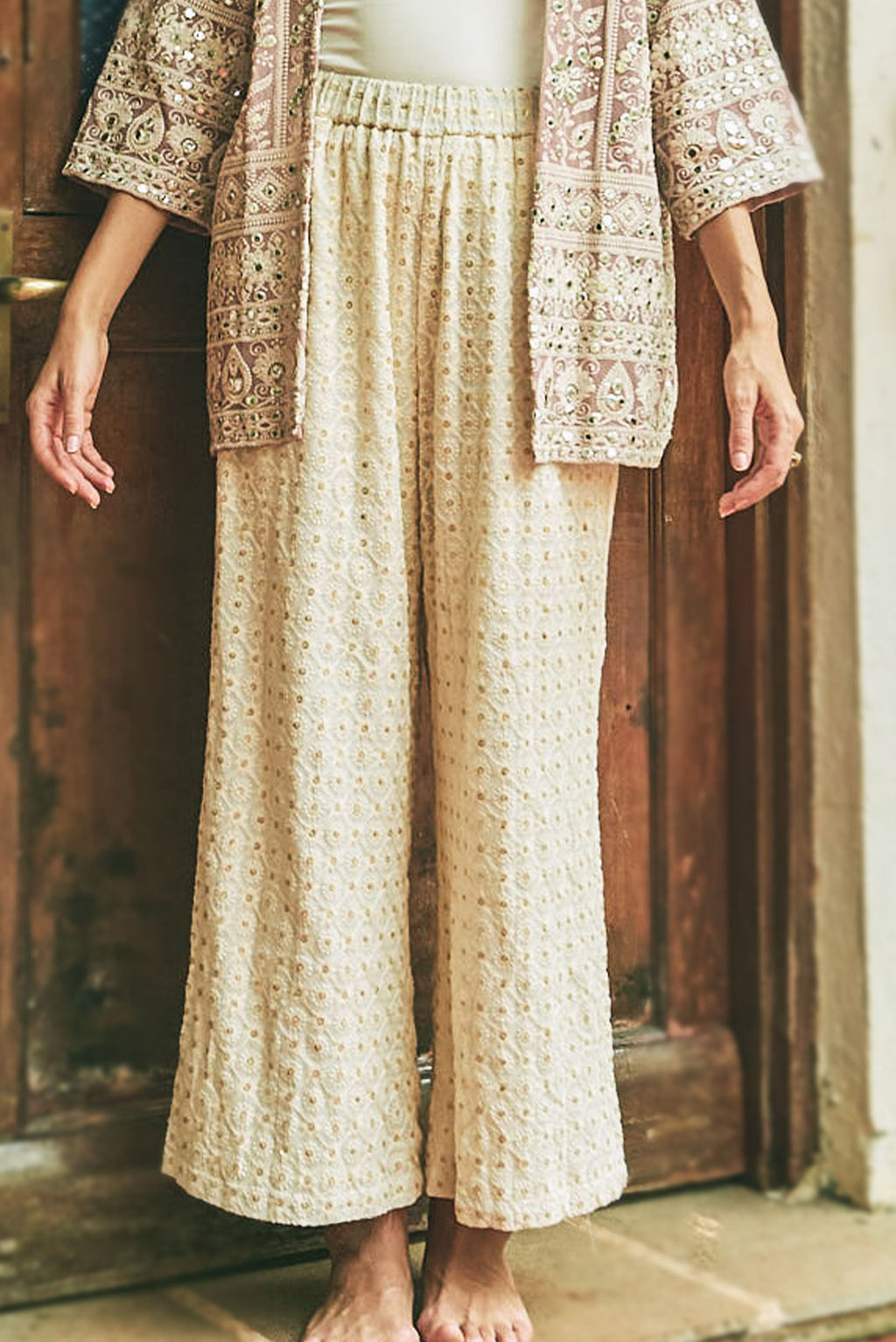 Kashmiri Fields High Waisted Pants