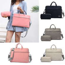Load image into Gallery viewer, Puimentiua PU Leather women Laptop Bag Notebook Carrying Case Briefcase for Macbook Air 13.3 14 15.6 inch Handbags shoulder Bag