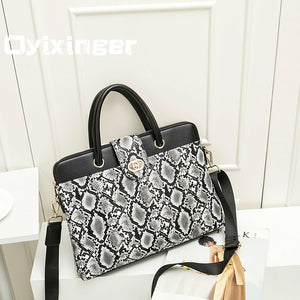 "New Women Briefcases Shoulder Bag Luxury Handbags Business Leather Briefcase 14.1"" Laptop Handbag Office Bags For Women"