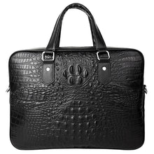 Load image into Gallery viewer, New Luxury Alligator Cow Genuine Leather Business Men Briefcase Male Briefcase Shoulder Bag Men Messenger Bag Tote Computer Bag