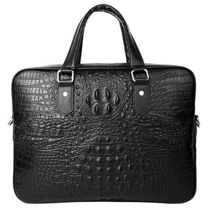New Luxury Alligator Cow Genuine Leather Business Men Briefcase Male Briefcase Shoulder Bag Men Messenger Bag Tote Computer Bag