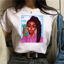 Load image into Gallery viewer, ZOGANKIN Women T Shirtfunny Female Short Sleeve Harajuku Ulzzang Oversized T Shirt Casual Loose Graphic Tee Tops Clothing Femme