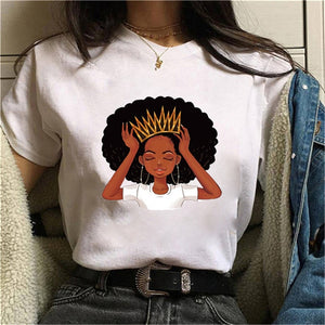 ZOGANKIN Women T Shirtfunny Female Short Sleeve Harajuku Ulzzang Oversized T Shirt Casual Loose Graphic Tee Tops Clothing Femme