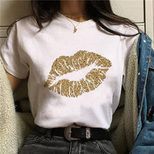 Load image into Gallery viewer, 2020 Hot Harajuku Shiny red lips Graphic T Shirt Women Cartoon Grunge T-shirt Fashion Tshirt Ullzang Top Tee Female ropa mujer