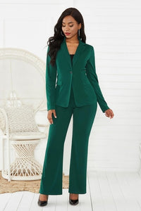 women's suit office two piece set long sleeve suit pants 2 piece set female winter two pieces sets office female