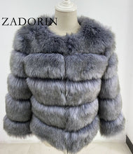 Load image into Gallery viewer, S-3XL Mink Coats Women 2020 Winter Top Fashion Pink FAUX Fur Coat Elegant Thick Warm Outerwear Fake Fur Jacket Chaquetas Mujer