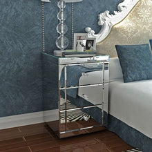 Load image into Gallery viewer, Panana Mirrored Bedside Cabinet/Bedside Table/Chest of 3 Drawers Bedroom Nightstand Table de chevet Fast delivery
