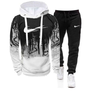 New Fashion Men Set Brand Hoodies+Pants Sets Tracksuit Men's Casual Slim Fit Sportswear Male Sweat Shirts Tracksuits Clothing
