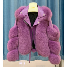 Load image into Gallery viewer, Fashion Real Fox Fur Coats With Genuine Sheepskin Leather Wholeskin Natural Fox Fur Jacket Outwear Luxury Women 2020 Winter New