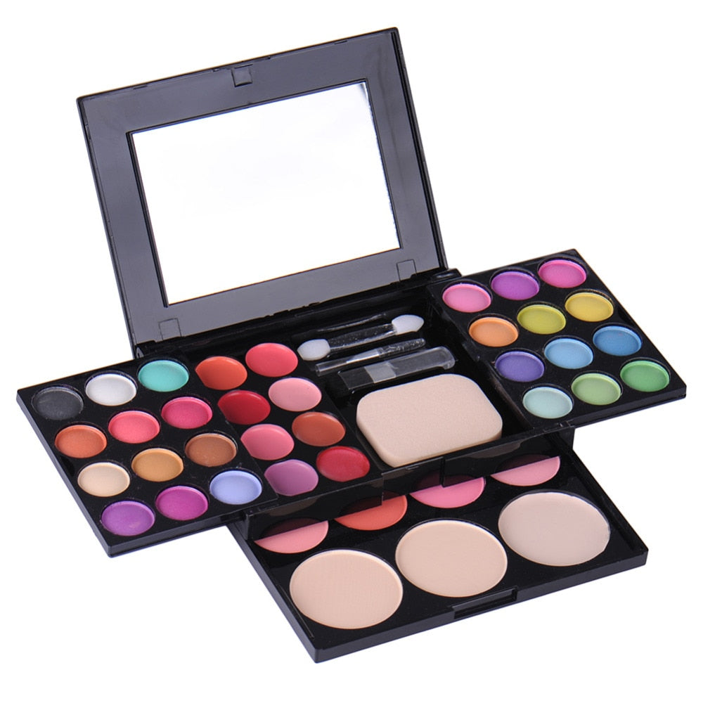 Makeup Palette 39 Colors Eyeshadow Include Blusher Foundation Powder And Lipstick Eye shadow Make up Cosmetics With Brush Mirror
