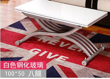 Load image into Gallery viewer, Changed the small family of tea table. Square. The multi-function. Folding. Lifting. Tea table. The table.