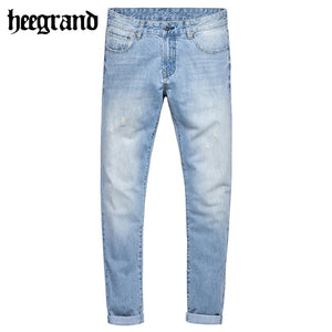 HEE GRAND 2017 New Spring Man Regular Cotton Jeans Men Casual Full Pants Hombres Pantalones Vaqueros MKN912