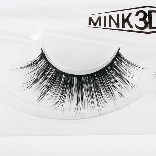 1 Pair 100% Real Mink Natural Thick 3D False Fake Eyelashes Eye Lashes Makeuu Extension Beauty Tools Free shipping ZY3DSD31