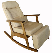 Load image into Gallery viewer, Garden Recliner For Elderly People Japanese Style ArmChair with Footstool Armrest Modern Indoor Wooden Rocking Chair Leg Wood