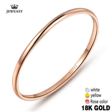 Load image into Gallery viewer, 18k Gold Women Rings Beautiful Exquisite Smooth Classic Real 750 Solid Rose Yellow Girl Gift Party Discount Good Nice new hot