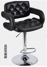 Load image into Gallery viewer, Fashionable bar chair. European style tall chair. Front desk receives silver chair. Conference chair bar stool