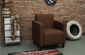 SOLO French style  one site  sofa modern coffee bar Internet bar stools with armchair single leather couch living room furniture