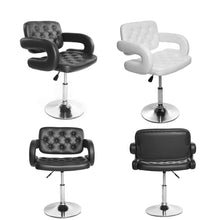 Load image into Gallery viewer, Bar Stool Chrome Arm Bar Chair Gas Lift Swivel Dropshipping